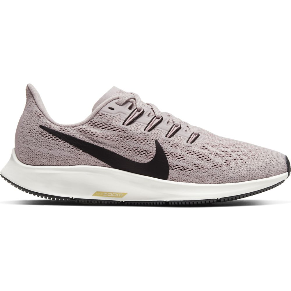 Nike Women's Air Zoom Pegasus 36 Running Shoes Platinum Violet / Black - achilles heel