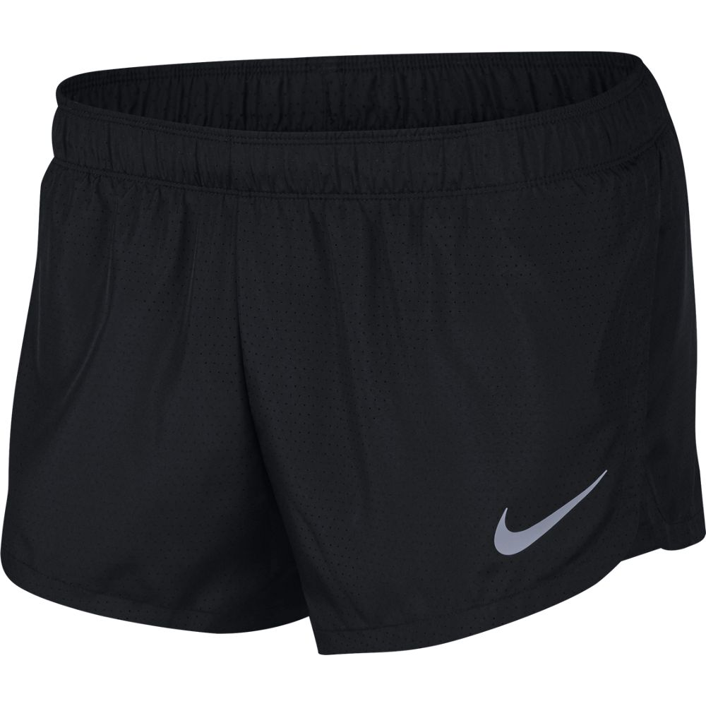 Nike Men's Fast 2 Inch Short Black / Reflective Silver - achilles heel