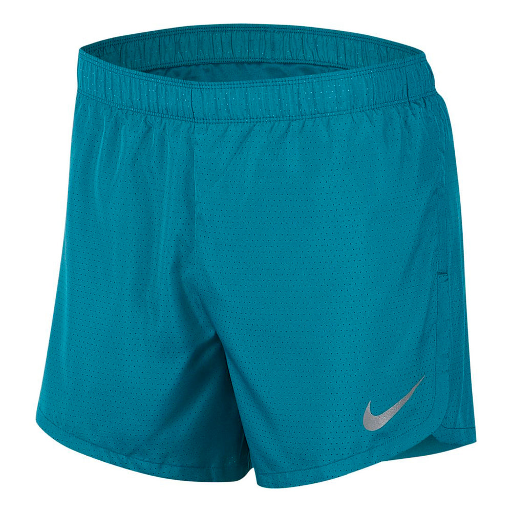 Nike Men's Dry 5 Inch Short Bright Spruce / Reflective Silver - achilles heel