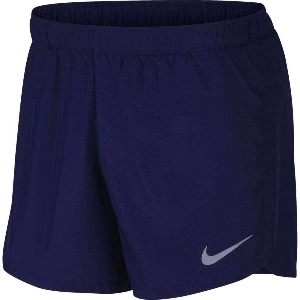 Nike Men's Fast 5 Inch Short Blue Void / Reflective Silver - achilles heel