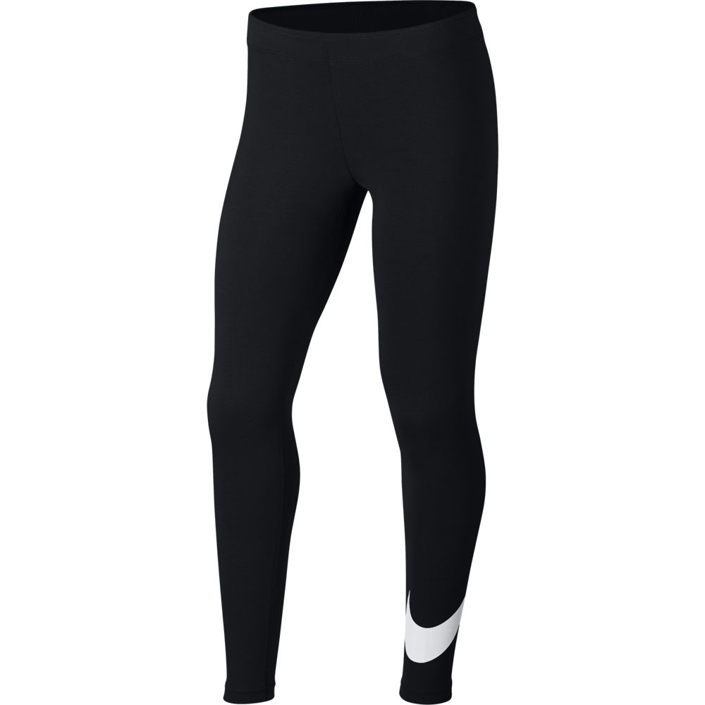 Nike Girls Sportswear Favorites Swoosh Tights Black / White
