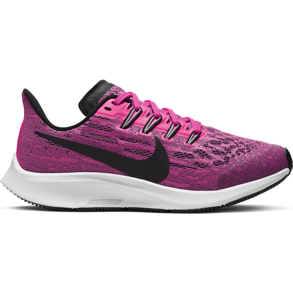 Nike Kids Air Zoom Pegasus 36 Running Shoes Pink Blast / Black / Vast Grey