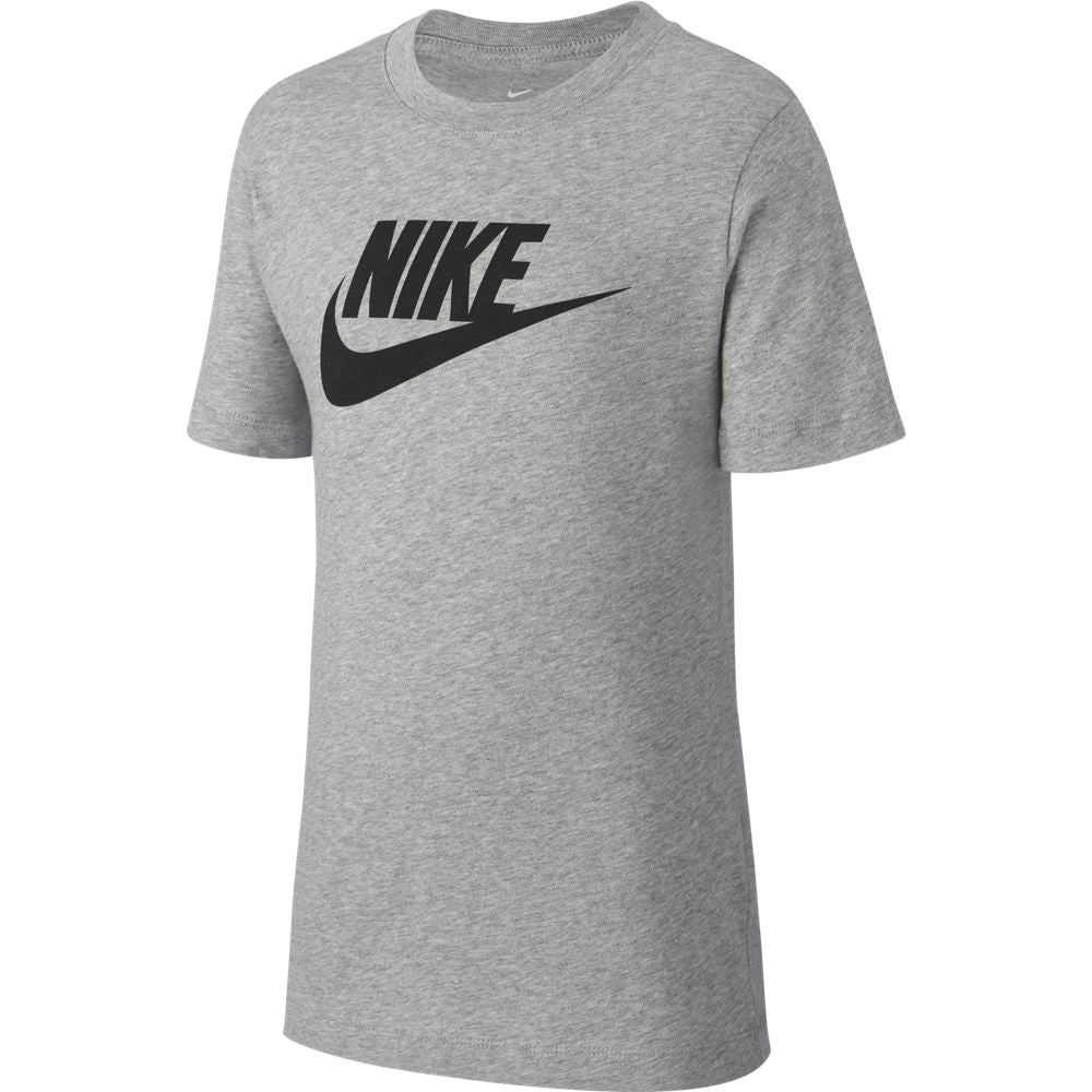 Nike Boys Sportswear Futura Tee Dark Grey / Heather / Black - achilles heel