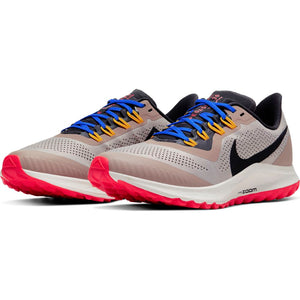 Nike Women's Air Zoom Pegasus 36 Trail Running Shoes Pumice / Oil Grey / Pacific Blue - achilles heel