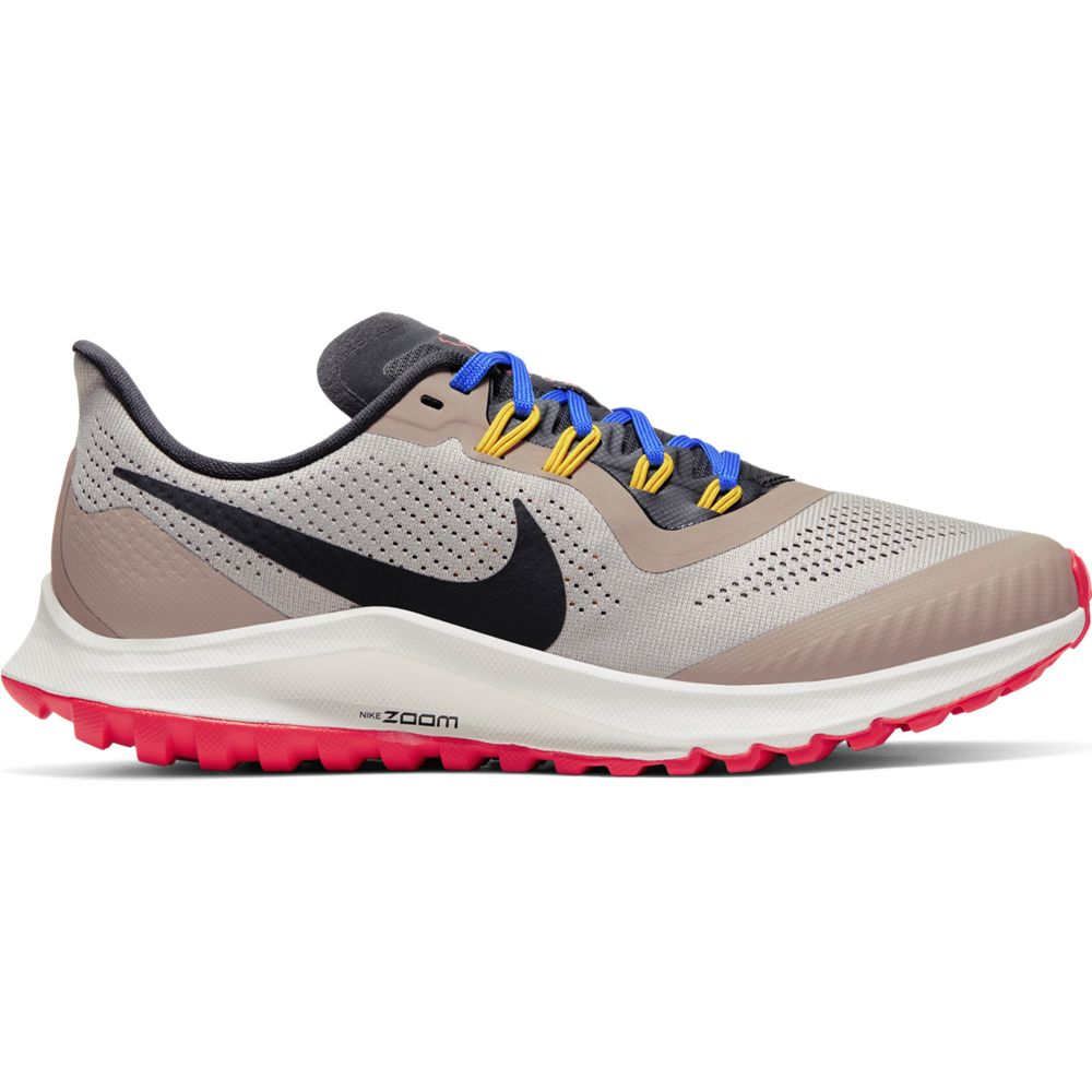 Nike Women's Air Zoom Pegasus 36 Trail Running Shoes Pumice / Oil Grey / Pacific Blue