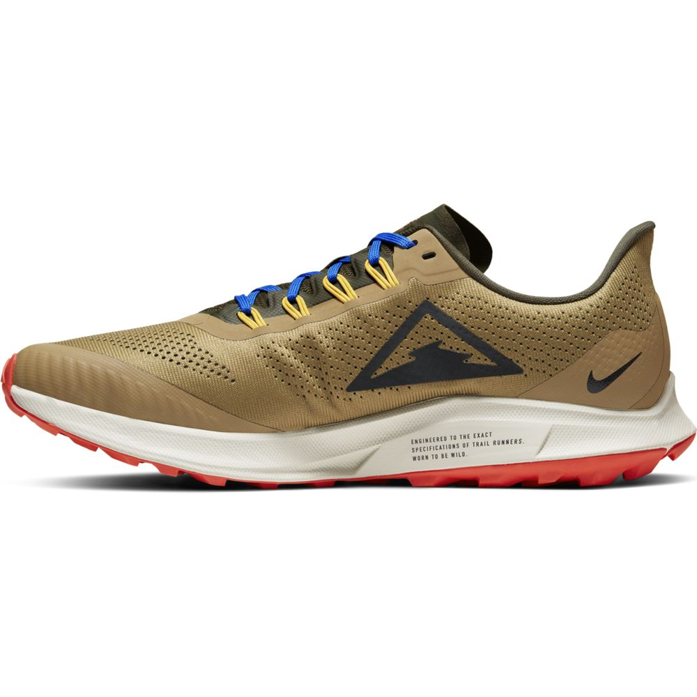 Nike Men's Air Zoom Pegasus Trail 36 Running Shoes Beechtree / Off Noir / Cargo Khaki - achilles heel