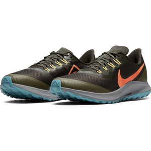 Nike Men's Air Zoom Pegasus 36 Trail Running Shoes Sequoia / Orange Trance - achilles heel