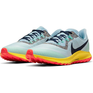Nike Men's Air Zoom Pegasus 36 Trail Running Shoes Aura / Blackened Blue - achilles heel