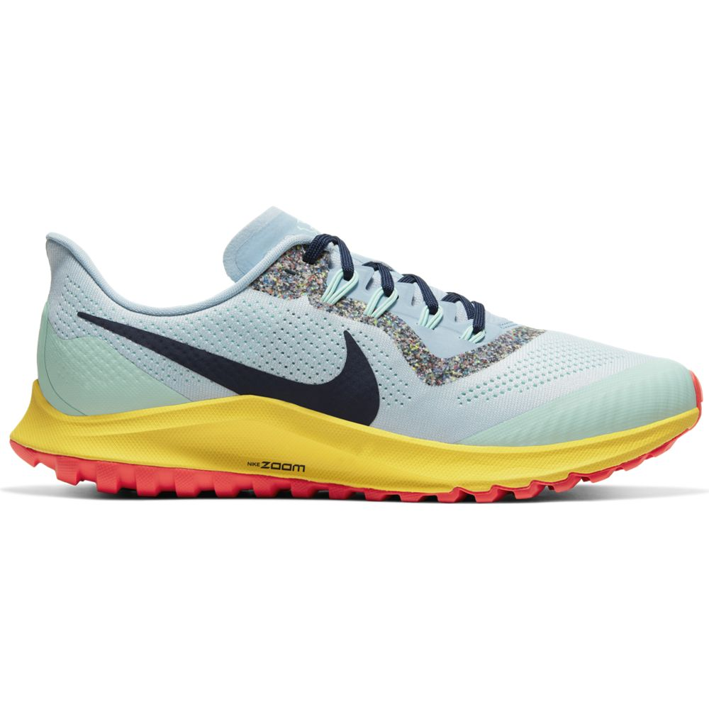 Nike Women's Air Zoom Pegasus 36 Trail Running Shoes Aura / Blackened Blue - achilles heel