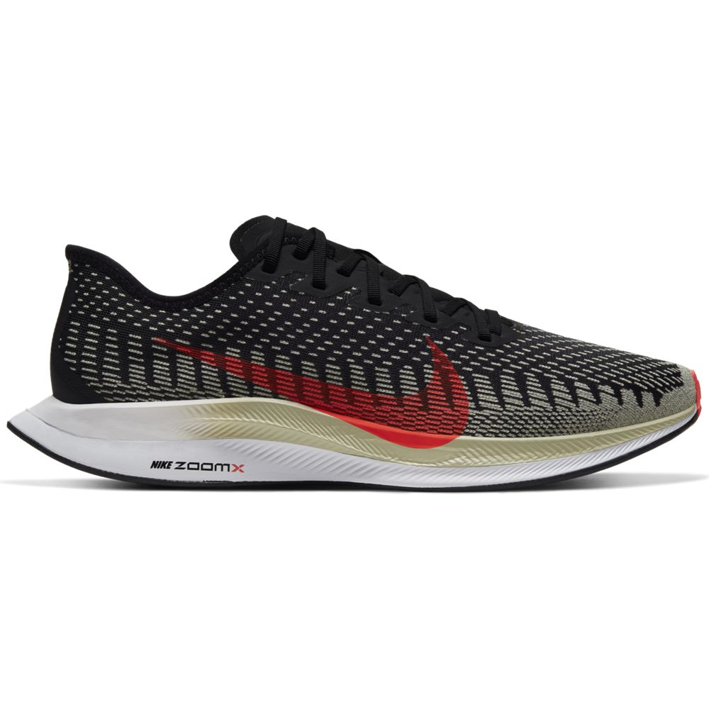 Nike Men's Zoom Pegasus Turbo 2 Running Shoes Black / Laser Crimson / Olive Aura - achilles heel