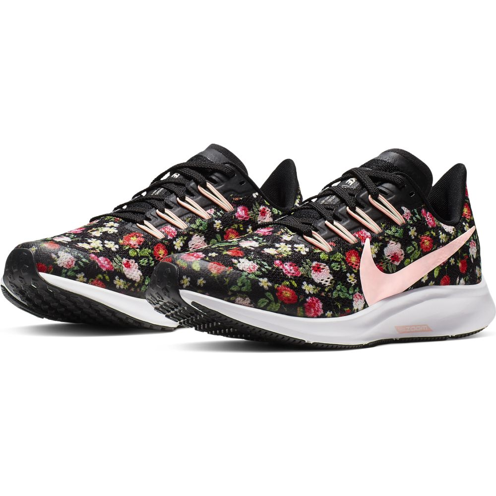 Nike Kids Air Zoom Pegasus 36 VF Running Shoes Black / Pink Tint / Ivory - achilles heel
