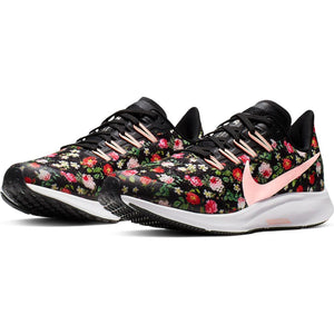 Nike Kids Air Zoom Pegasus 36 VF Running Shoes Black / Pink Tint / Ivory