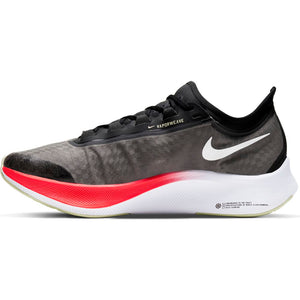 Nike Men's Zoom Fly 3 Running Shoes Black / White / Laser Crimson - achilles heel