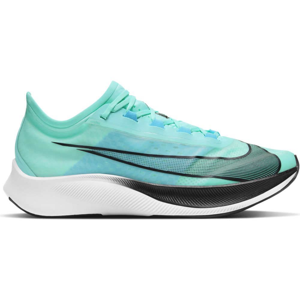 Nike Men's Zoom Fly 3 Running Shoes Aurora Green / Black - achilles heel