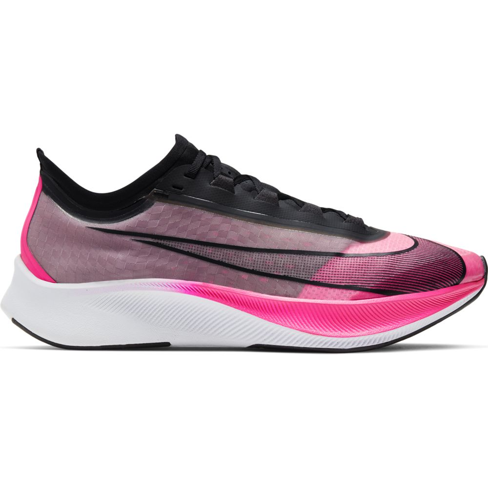 Nike Men's Zoom Fly 3 Running Shoes Pink Blast / Black / Atmosphere Grey / White