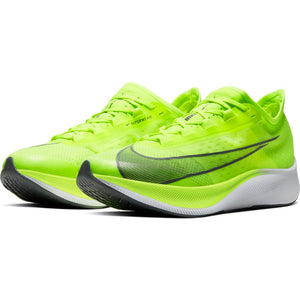 Nike Men's Zoom Fly 3 Running Shoes Volt / Smoke Grey / White - achilles heel