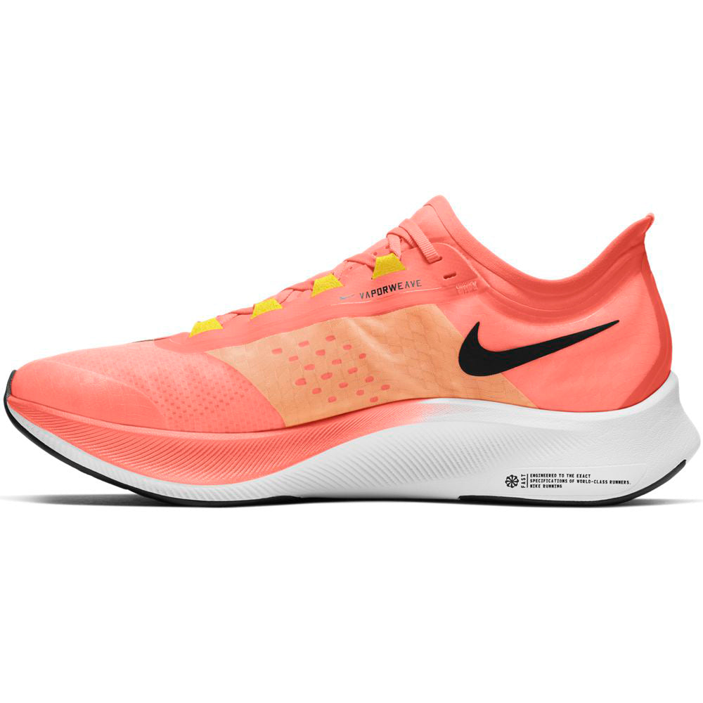 Nike Men's Zoom Fly 3 Running Shoes Bright Mango / Black - achilles heel
