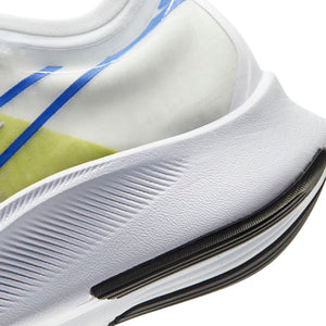 Nike Women's Zoom Fly 3 Running Shoes White / Metallic Silver - achilles heel