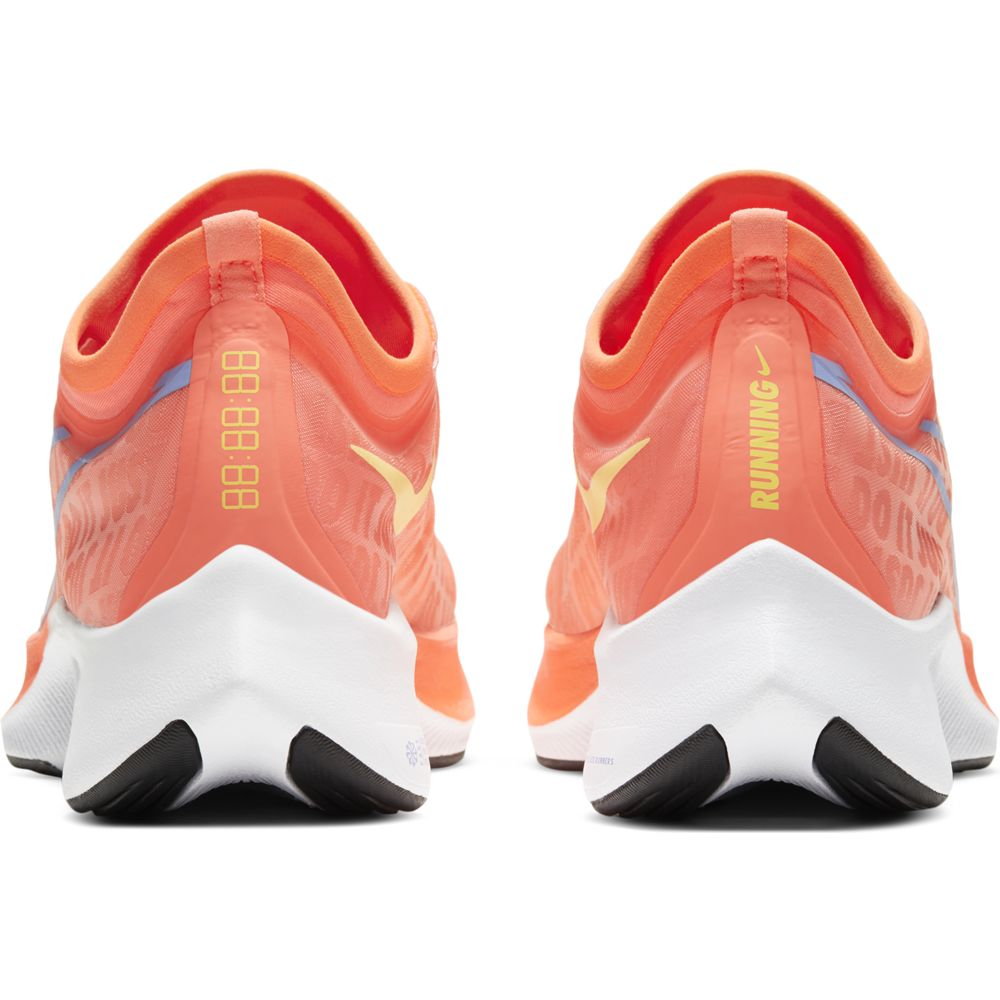 Nike Women's Zoom Fly 3 Running Shoes Bright Mango / Zitron - achilles heel