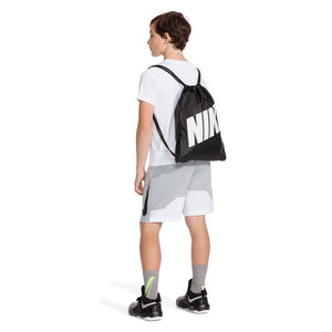 Nike Kids Graphic Gym Sack Black / White - achilles heel