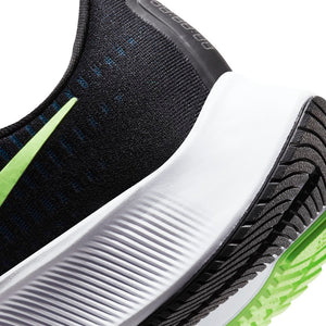 Nike Men's Air Zoom Pegasus 37 Running Shoes Black / Lime Blast / Valerian Blue / White - achilles heel