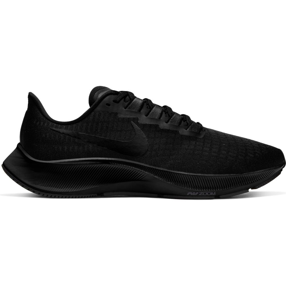 Nike Men's Air Zoom Pegasus 37 Running Shoes Black / Black / Dark Smoke Grey - achilles heel