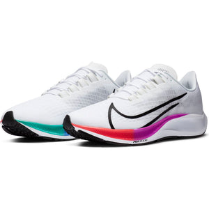 Nike Men's Air Zoom Pegasus 37 Running Shoes White / Black / Hyper Violet - achilles heel