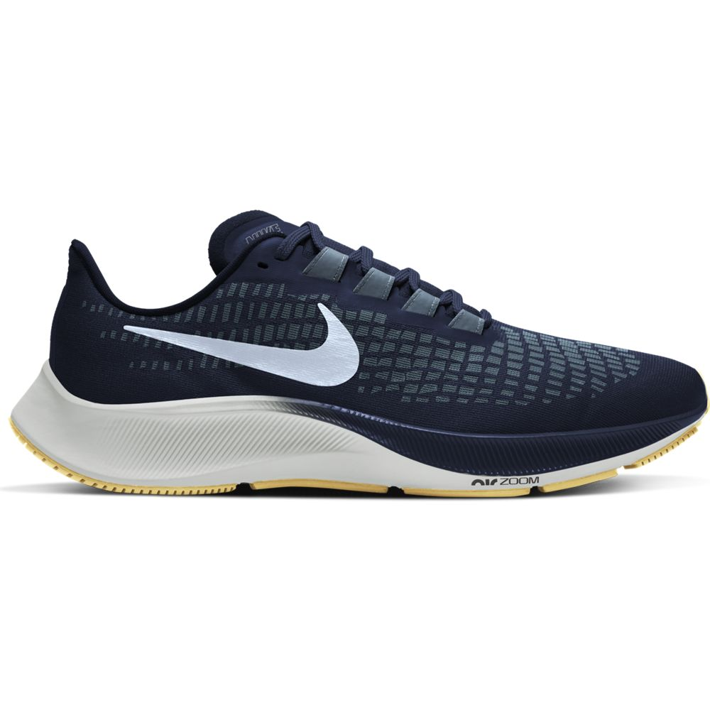 Nike Men's Air Zoom Pegasus 37 Running Shoes Obsidian / Celestine Blue - achilles heel