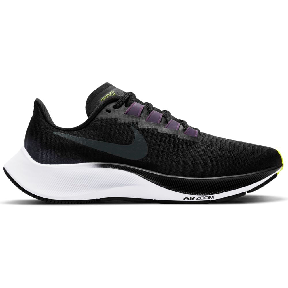 Nike Women's Air Zoom Pegasus 37 Black Anthracite / Dark Raisin - achilles heel