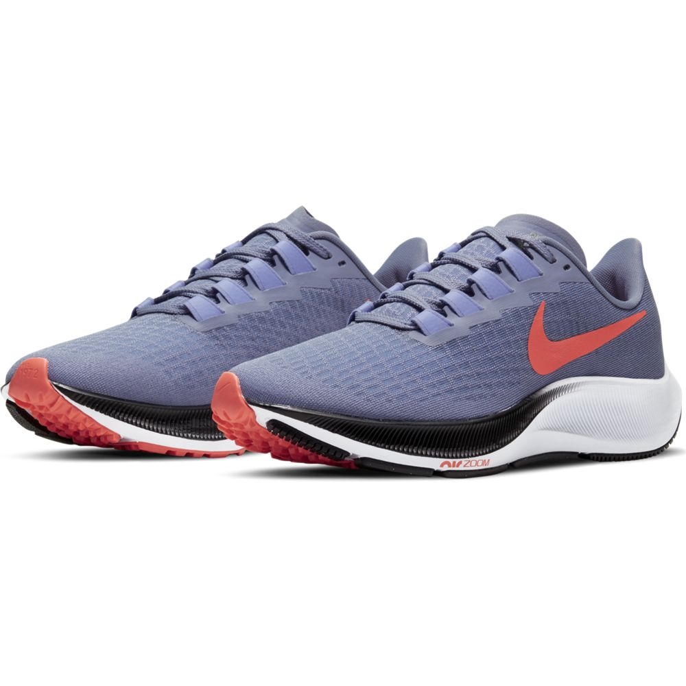 Nike Women's Air Zoom Pegasus 37 Running Shoes Indigo Haze / Bright Mango - achilles heel