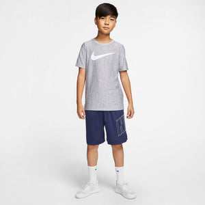 Nike Boys Dri-Fit Core Training Tee Midnight Navy / White - achilles heel