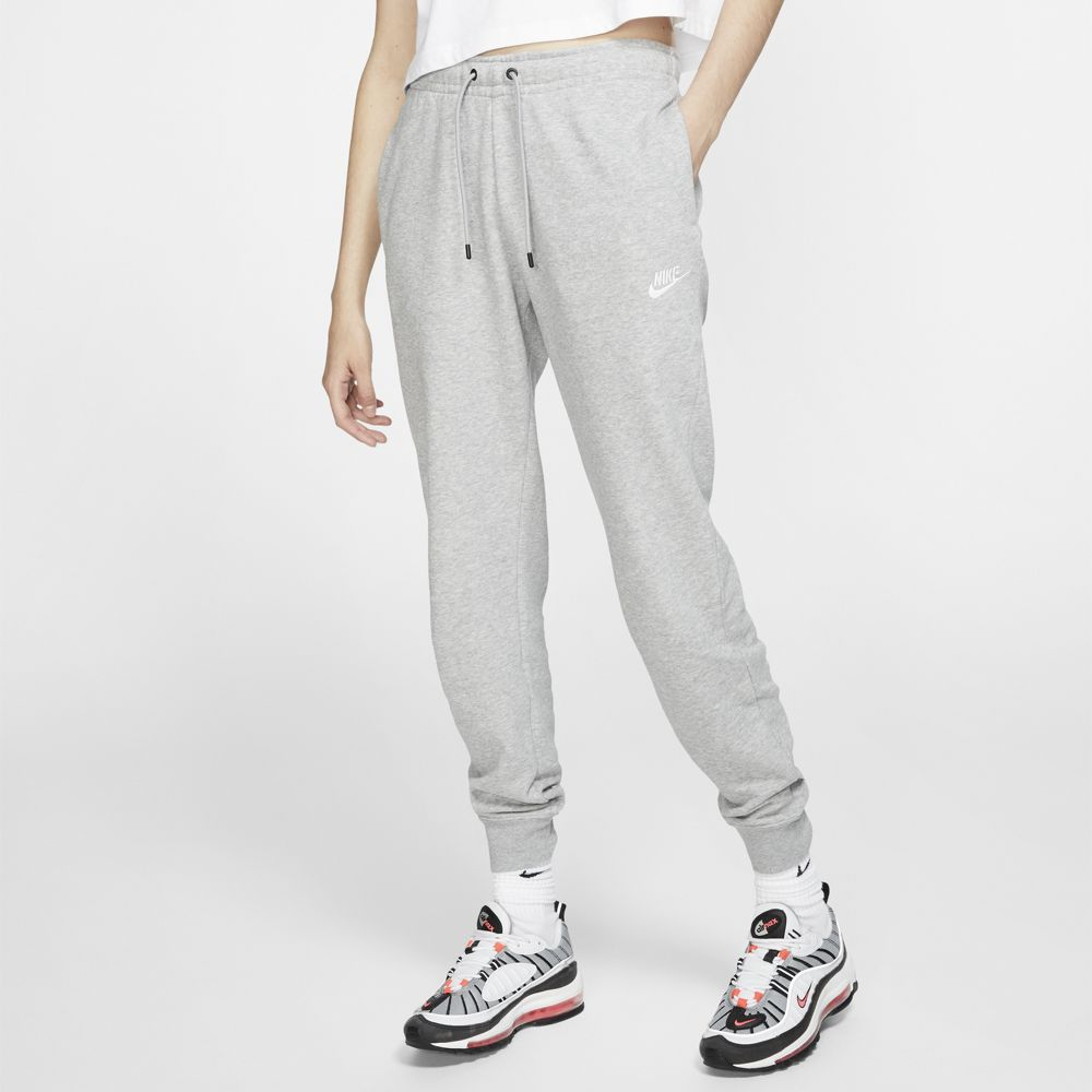 Nike Women's Sportswear Essential Fleece Pant Dark Grey Heather / Matte Silver / White - achilles heel
