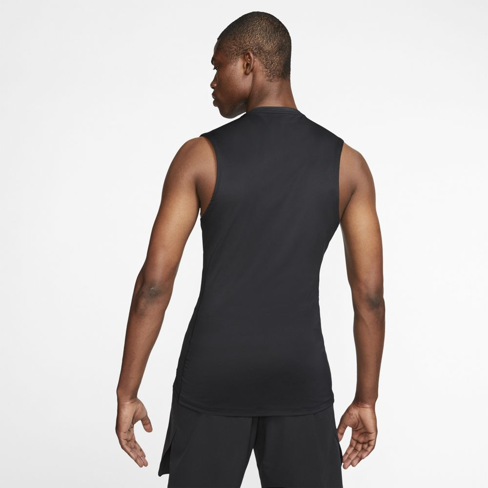 Nike Men's Pro Sleeveless Top Black / White - achilles heel