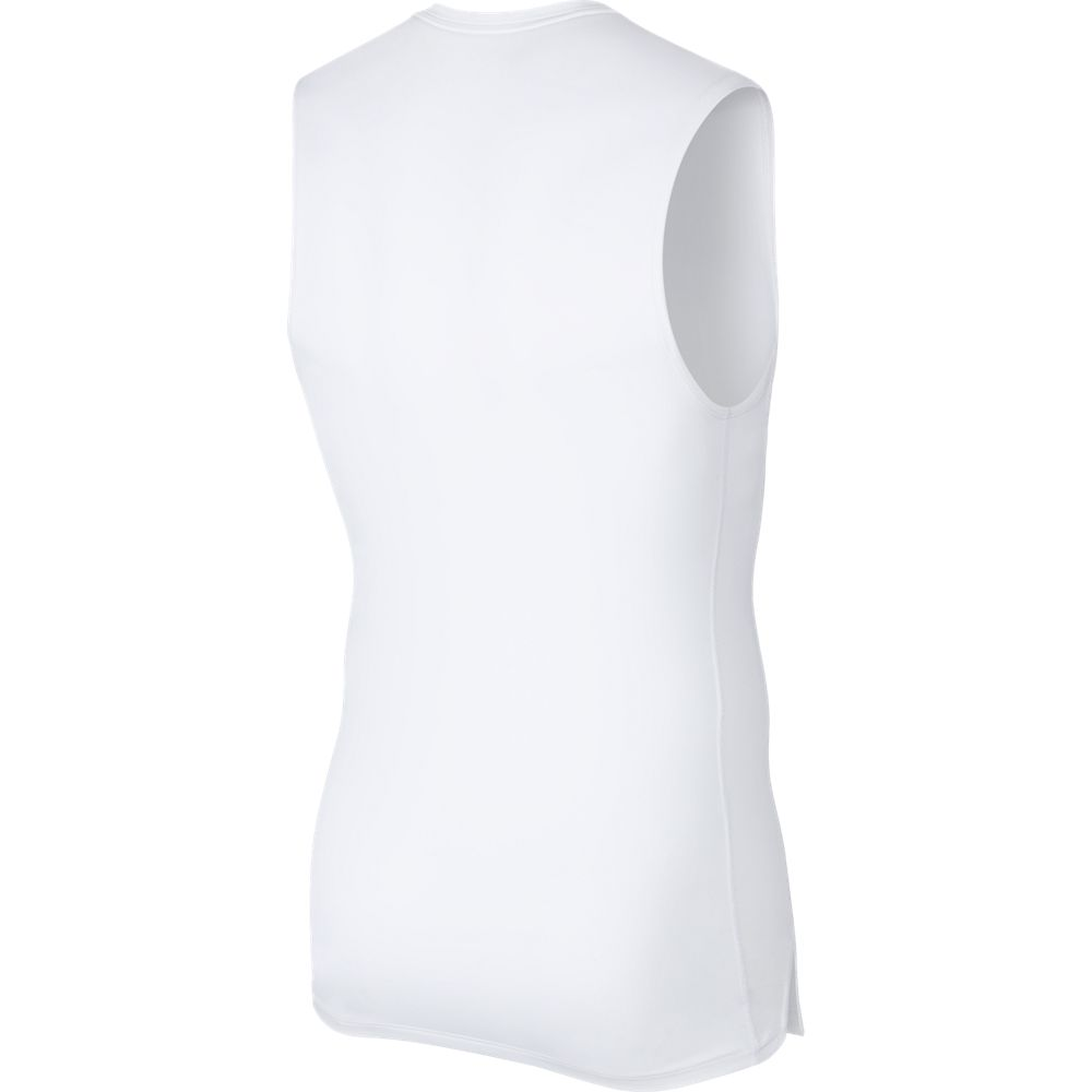 Nike Men's Pro Sleeveless Top White / Black - achilles heel