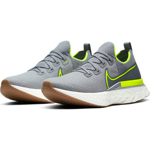 Nike Men's React Infinity Run Flyknit Running Shoes Particle Grey / Volt / Wolf Grey - achilles heel