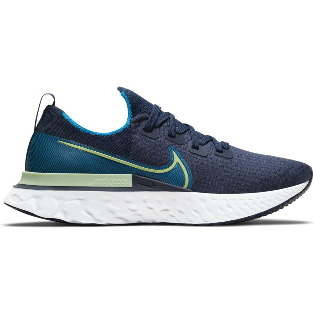 Nike Men's React Infinity Run Flyknit Running Shoes College Navy / Cucumber Calm / Blue Orbit - achilles heel