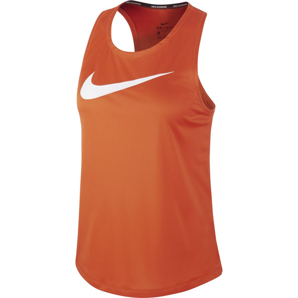Nike Women's Swoosh Run Tank Team Orange / White