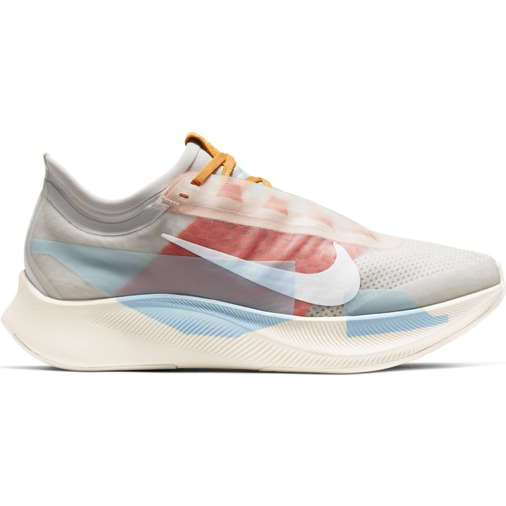 Nike Women's Zoom Fly 3 Premium Photon Dust / White / Team Orange - achilles heel