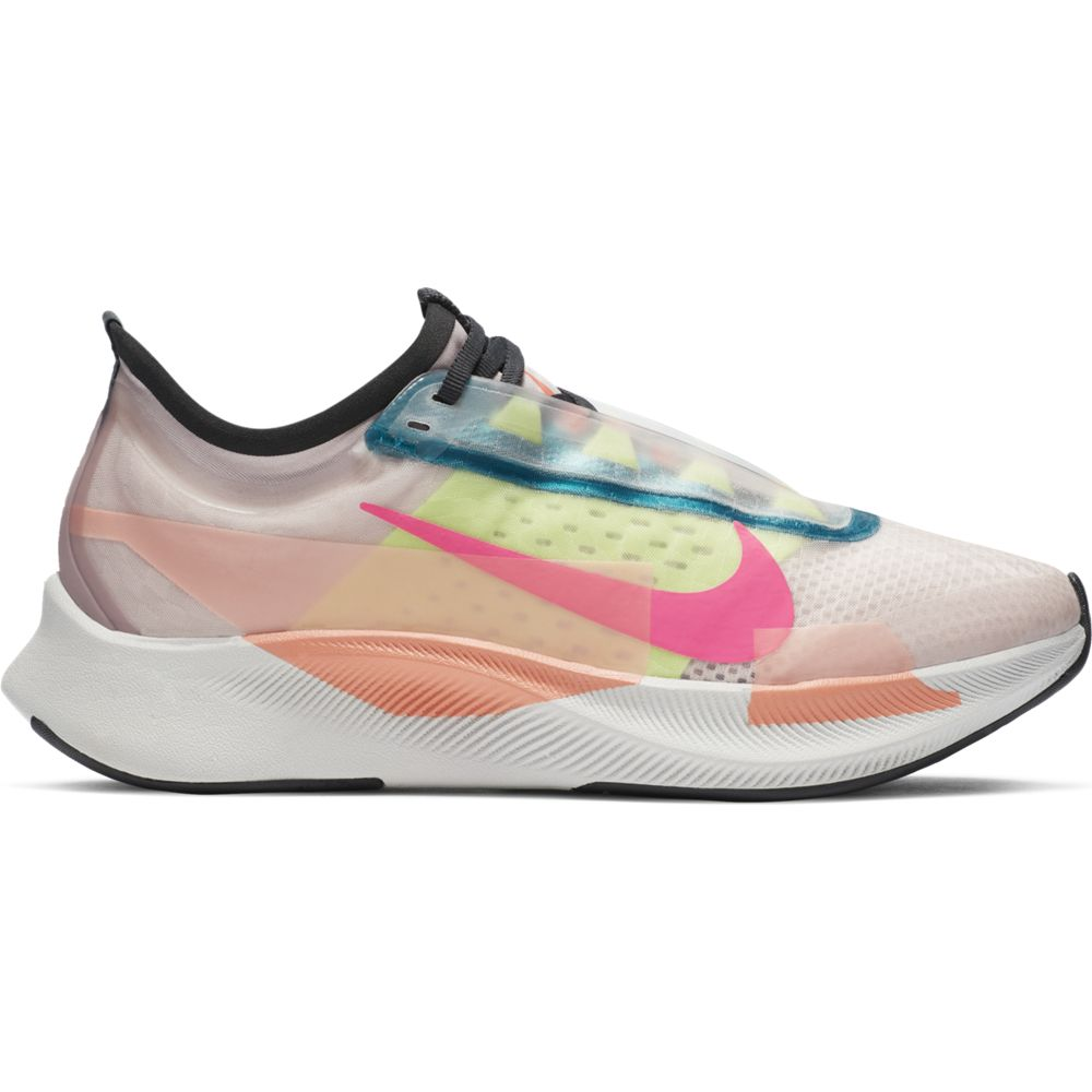 Nike Women's Zoom Fly 3 Premium Running Shoes Barley Rose / Pink Blast - achilles heel