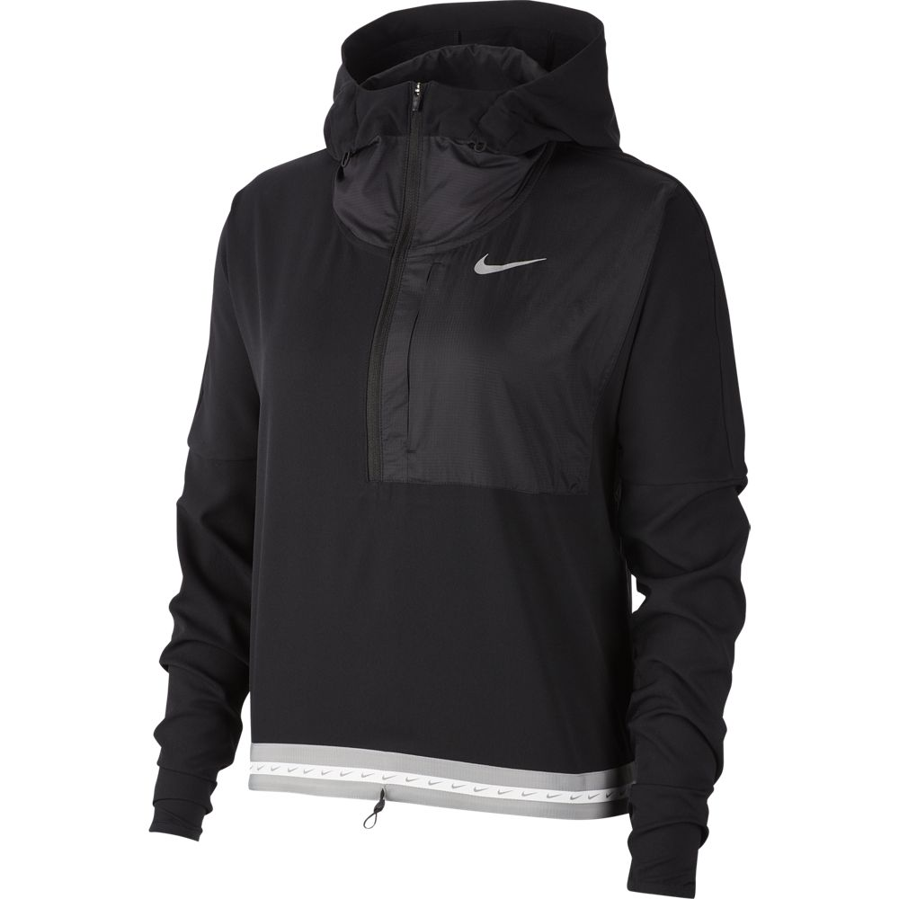 Nike Women's Lightweight HD Jacket Black / Reflective Silver - achilles heel