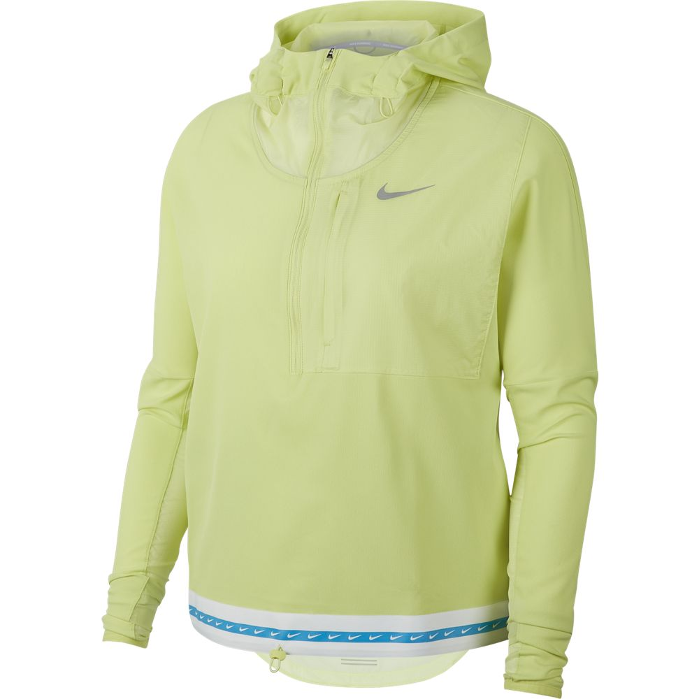 Nike Women's Lightweight HD Jacket Limelight / Reflective Silver - achilles heel