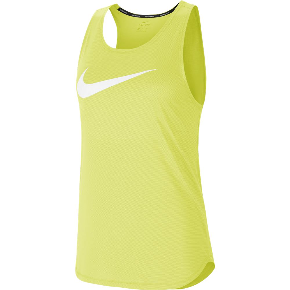 Nike Women's Swoosh Run Tank Limelight / White - achilles heel