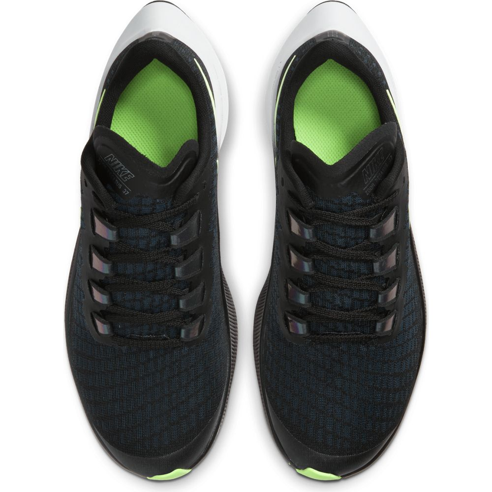 Nike Kids Air Zoom Pegasus 37 Running Shoes Black / Lime Blast / Valerian Blue / White - achilles heel