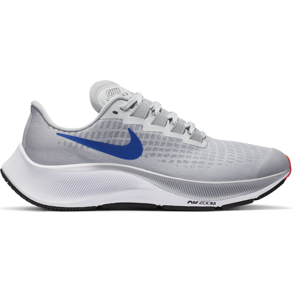 Nike Kids Air Zoom Pegasus 37 Running Shoes Pure Platinum / Racer Blue / Wolf Grey - achilles heel