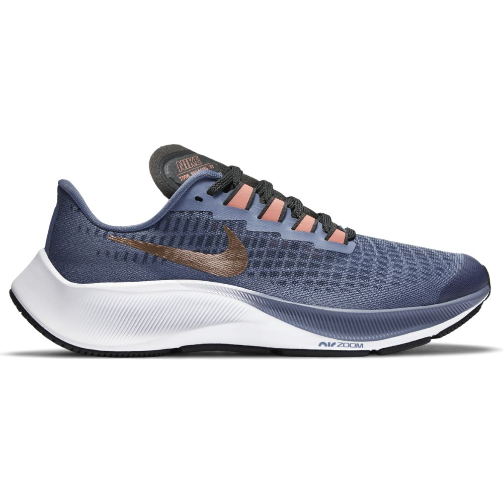 Nike Kids Air Zoom Pegasus 37 Running Shoes World Indigo / Metallic Red Bronze - achilles heel