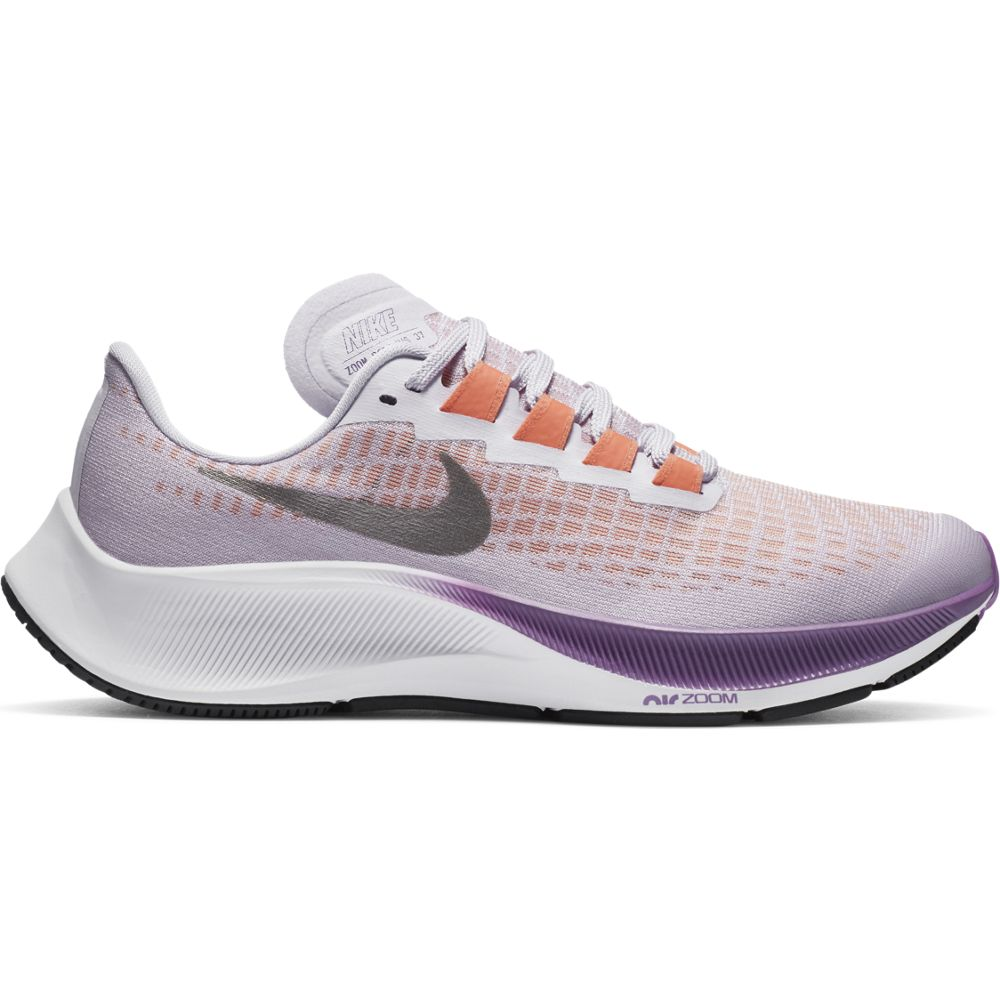 Nike Kids Air Zoom Pegasus 37 Running Shoes Violet Frost / Metallic Pewter - achilles heel