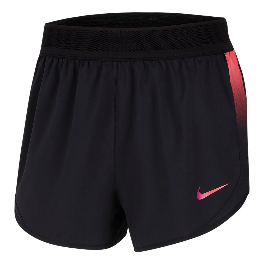 Nike Women's Runway Short Black / Laser Crimson Vivid Purple - achilles heel