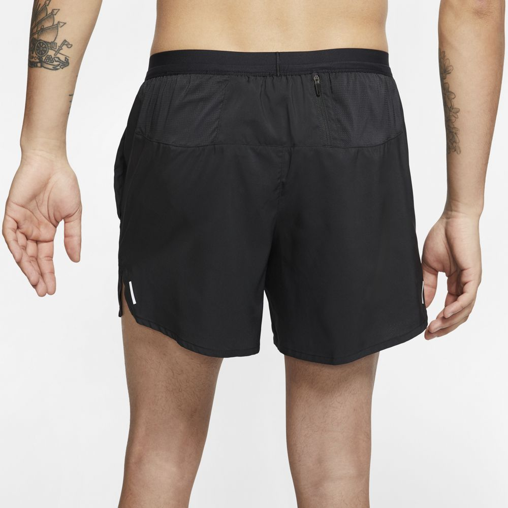 Nike Men's Flex Stride 5 Inch Shorts Black / Reflective Silver - achilles heel