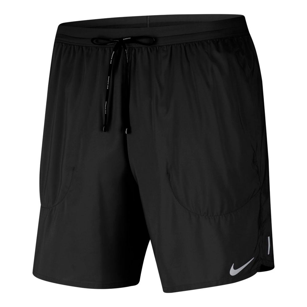 Nike Men's Flex Stride 7 Inch Short Black / Reflective Silver - achilles heel