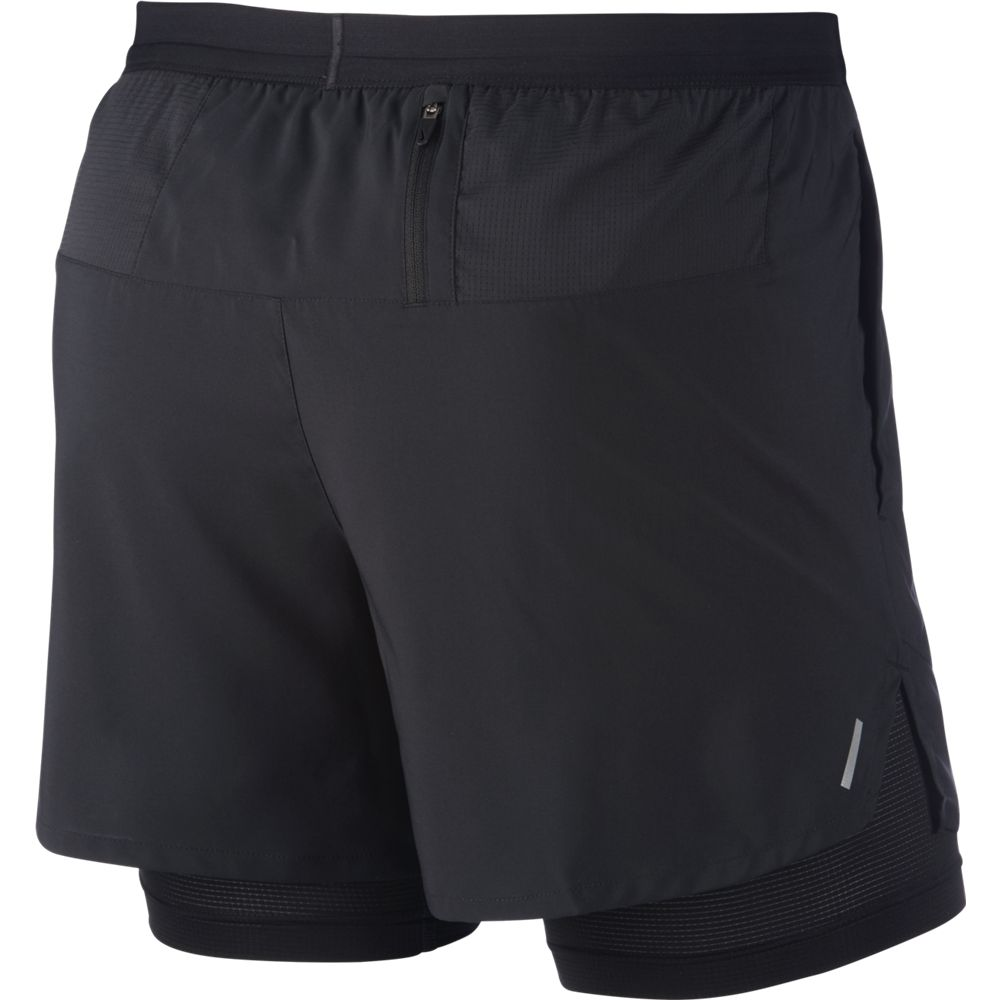 Nike Men's Flex Stride 2-in-1 5 Inch Short Black / Reflective Silver - achilles heel